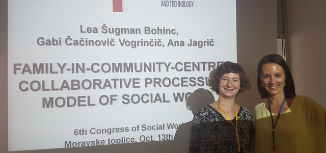 Presentation of the Project and its Results at the 6th Congress of Social Work